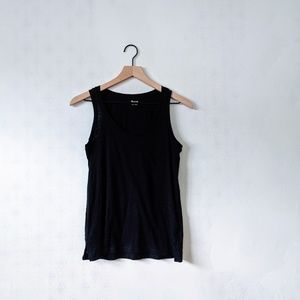 Madewell XSS Black Basic Sleeveless Tank